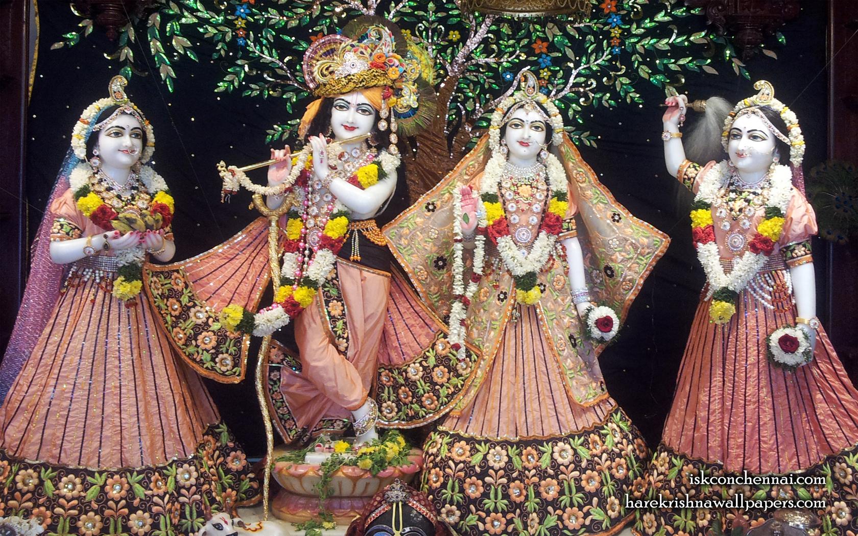 Sri Sri Radha Krishna Lalita Vishakha Wallpaper (004) Size 1680x1050 Download