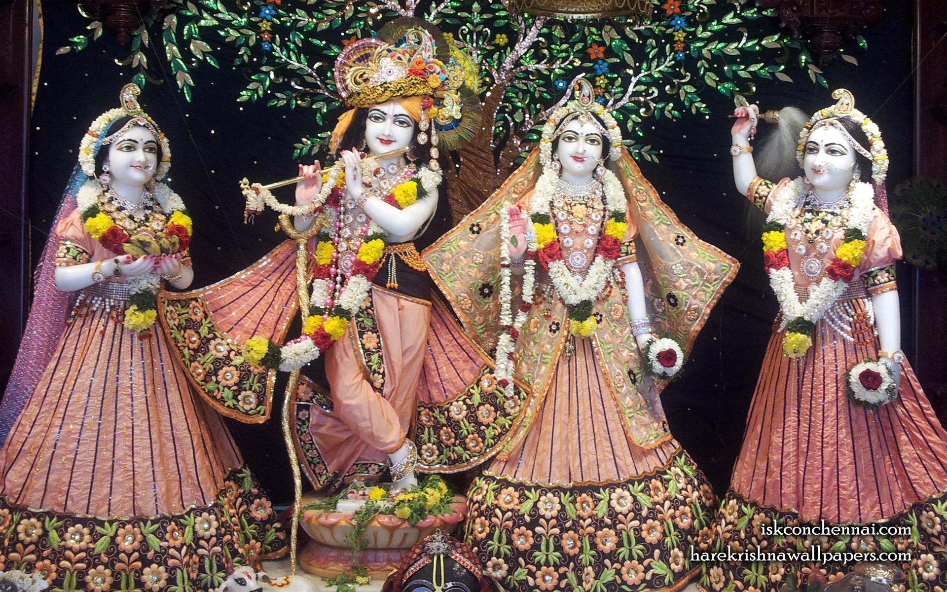 Sri Sri Radha Krishna Lalita Vishakha Wallpaper (004) Size 1920x1200 Download