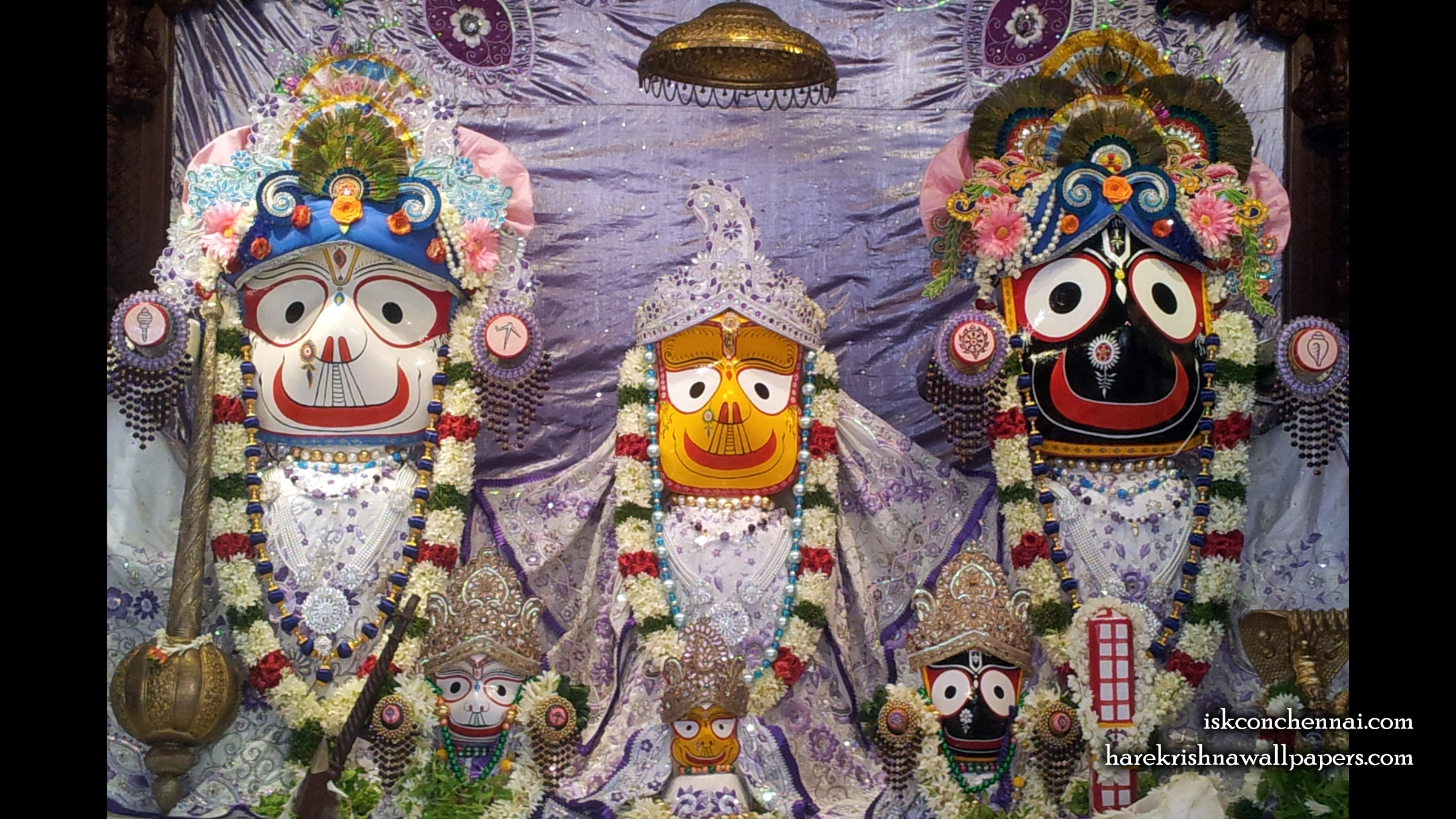 Jagannath Baladeva Subhadra Wallpaper (005) Size 2400x1350 Download