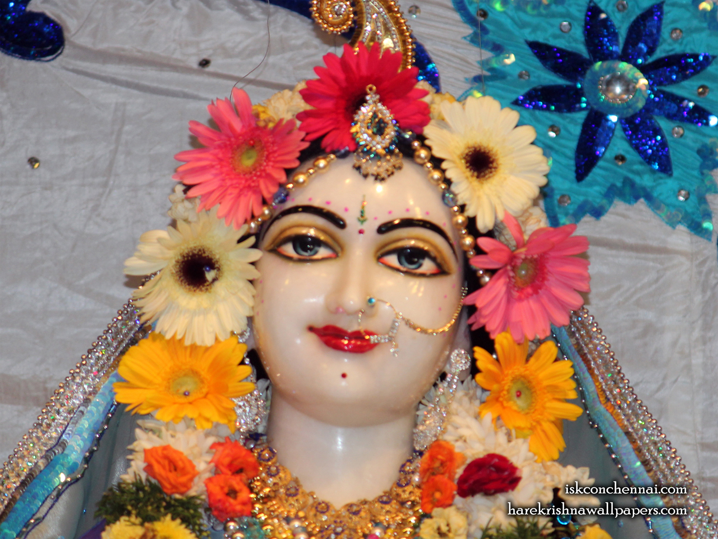Sri Radha Close up Wallpaper (005) Size 1400x1050 Download