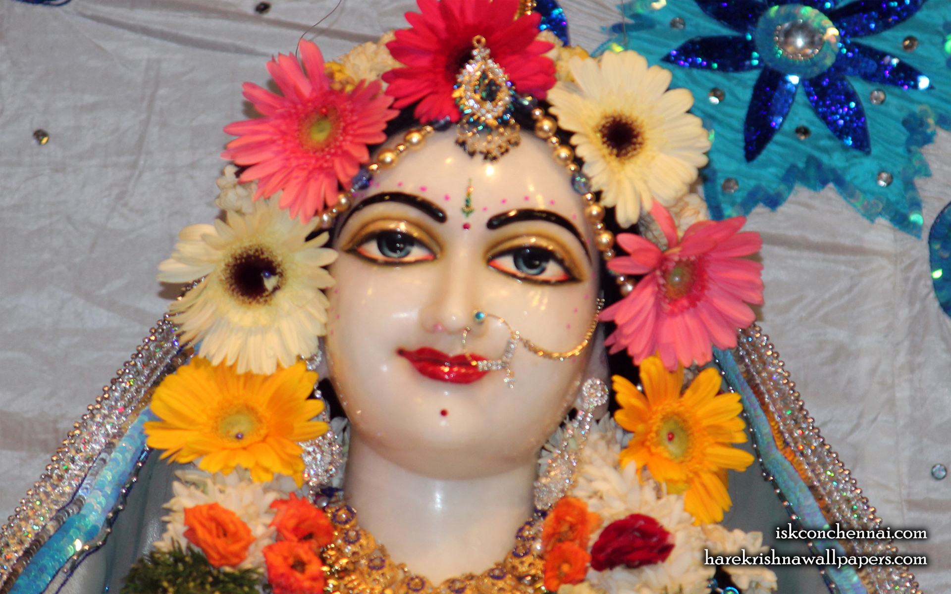 Sri Radha Close up Wallpaper (005) Size 1920x1200 Download