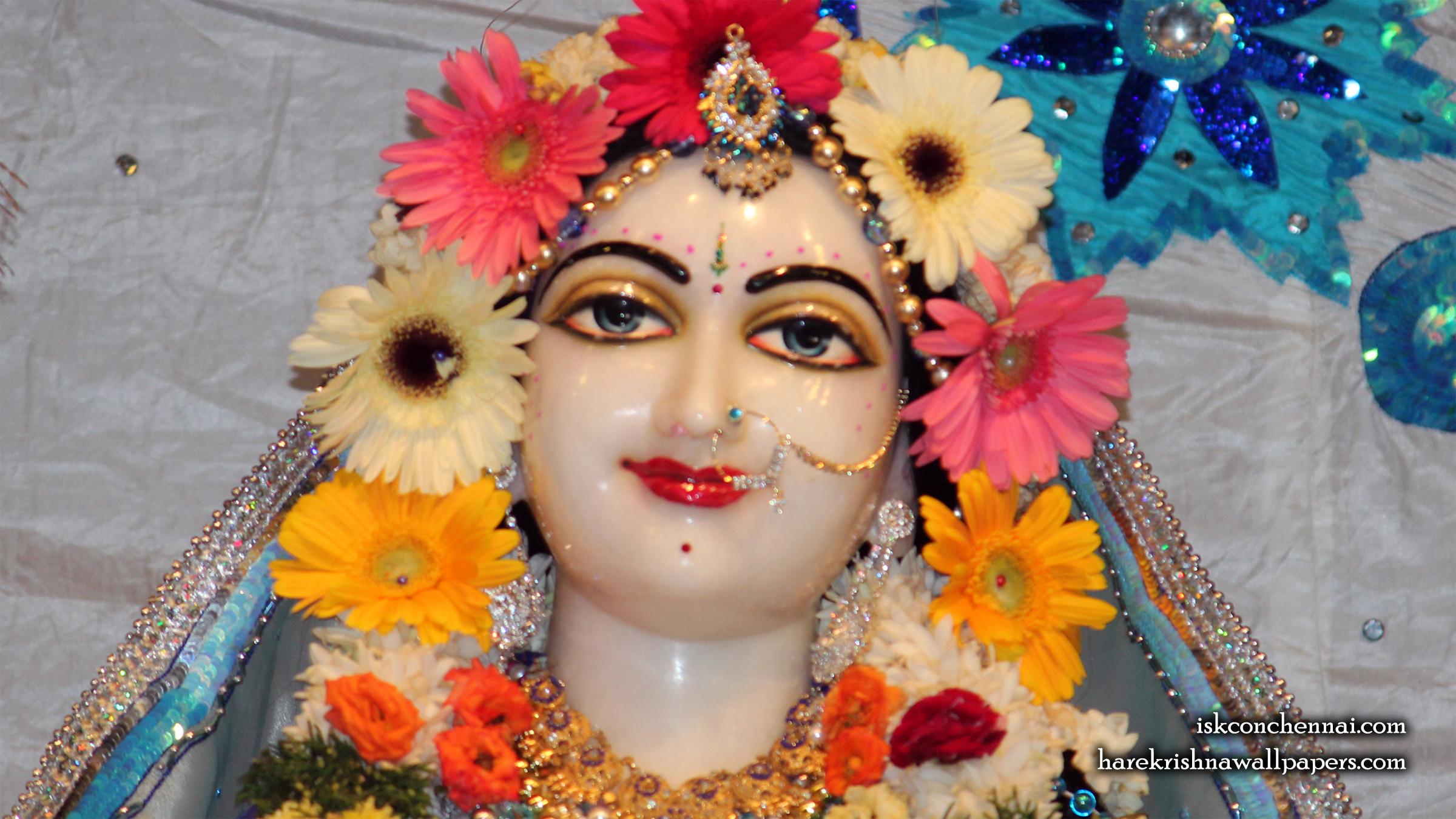 Sri Radha Close up Wallpaper (005) Size 2400x1350 Download
