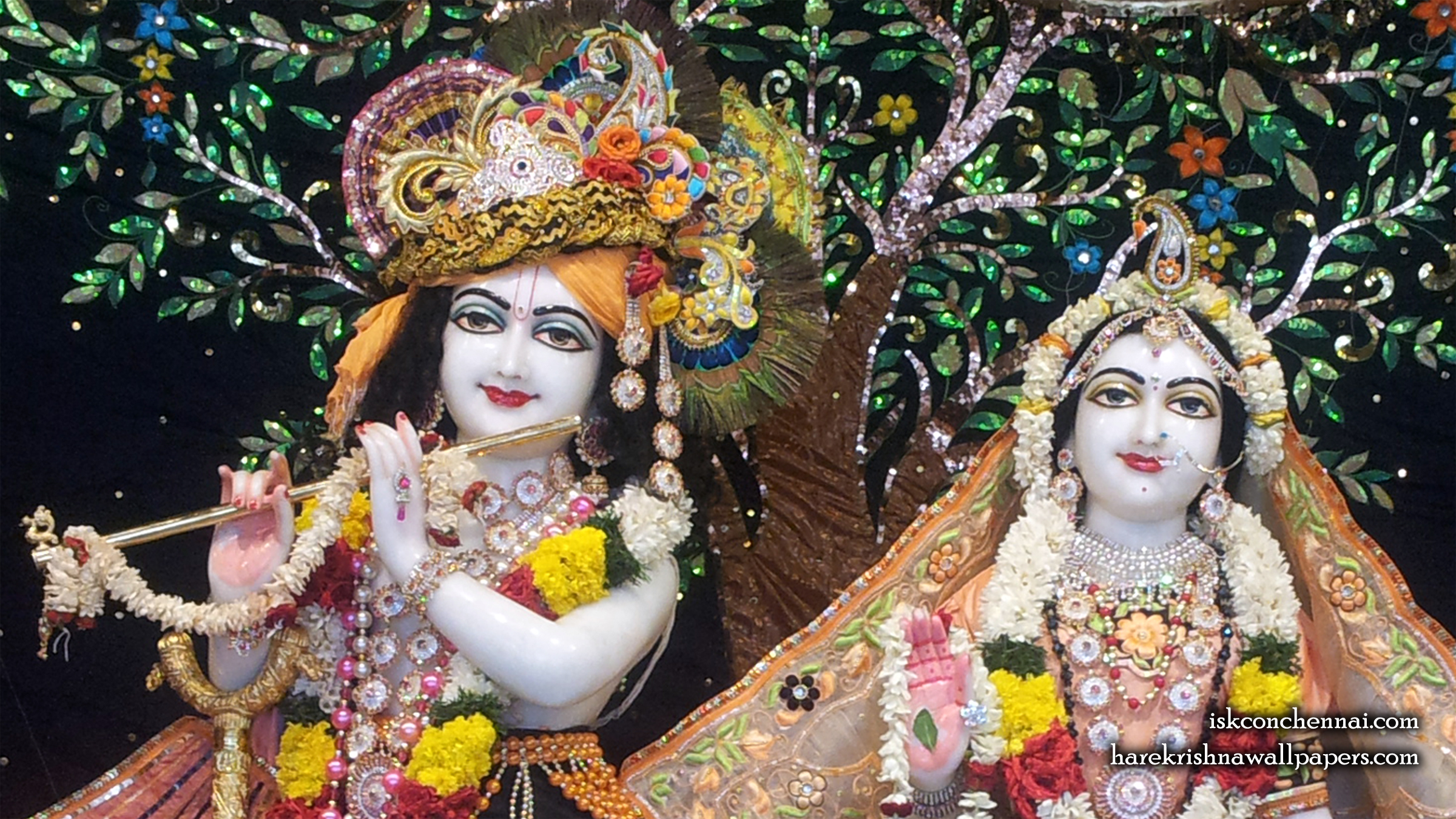 Sri Sri Radha Krishna Close up Wallpaper (005) Size 2400x1350 Download