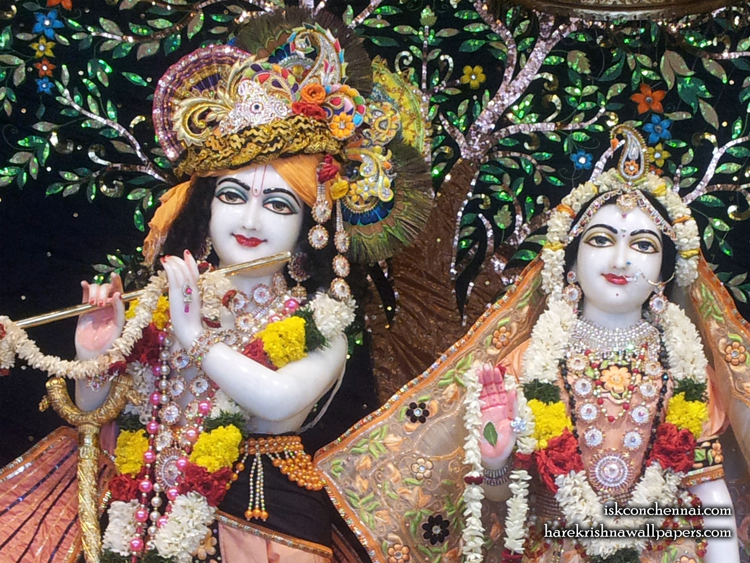 Sri Sri Radha Krishna Close up Wallpaper (005) Size 2400x1800 Download