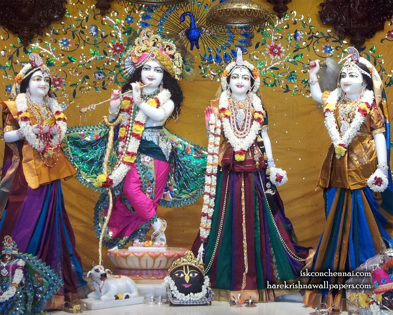 Sri Sri Radha Krishna Lalita Vishakha Wallpaper (005) Size 1280x1024 Download