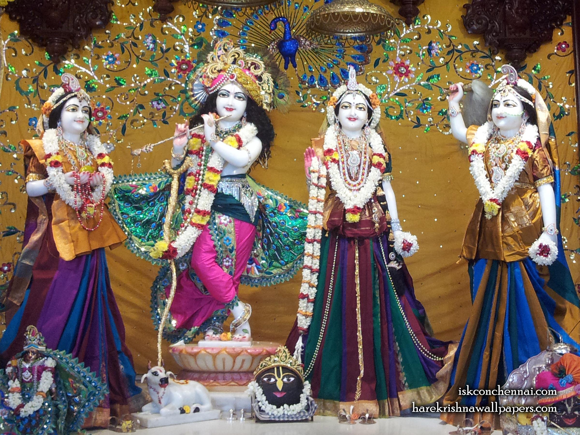 Sri Sri Radha Krishna Lalita Vishakha Wallpaper (005) Size 2400x1800 Download