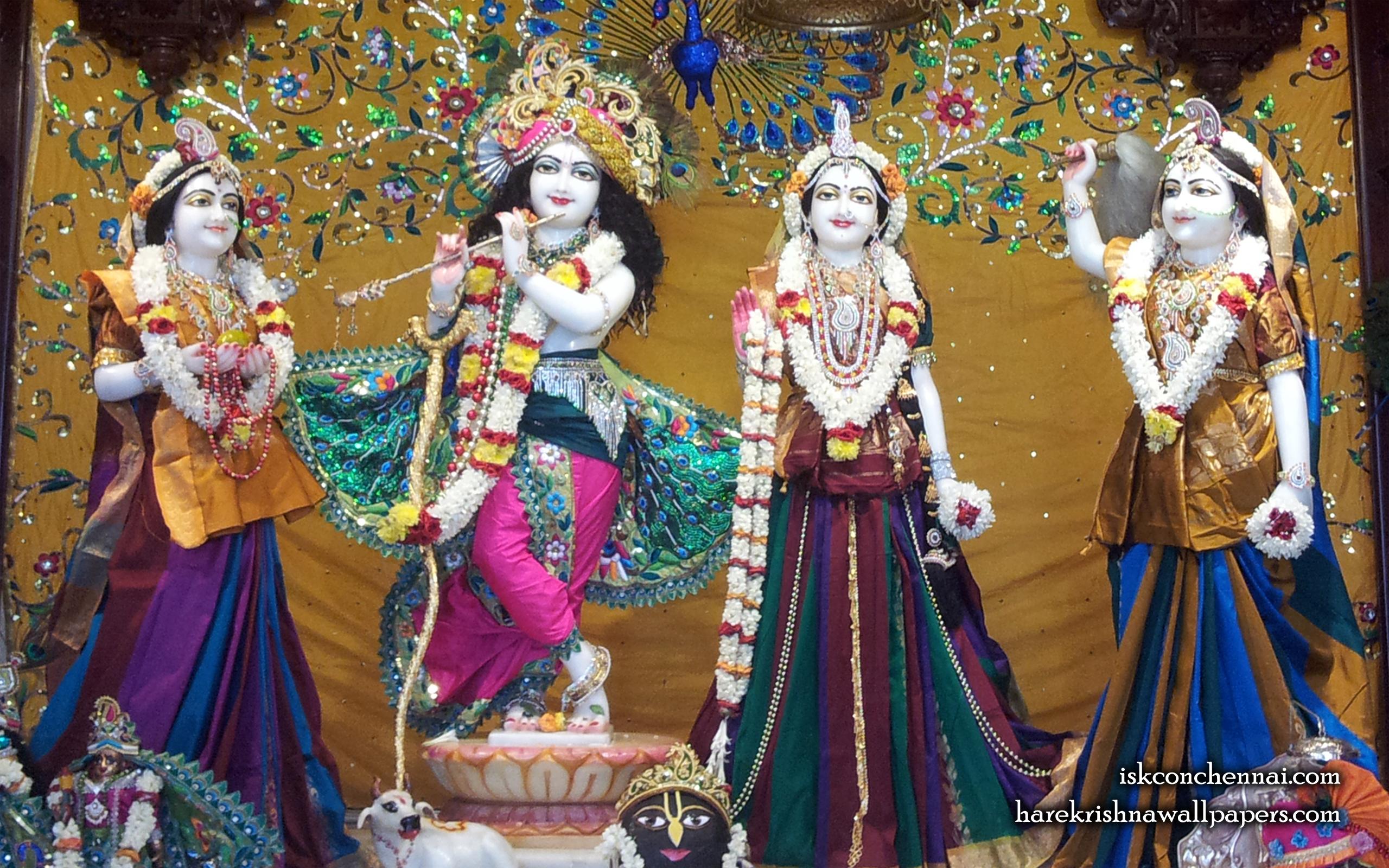 Sri Sri Radha Krishna Lalita Vishakha Wallpaper (005) Size 2560x1600 Download