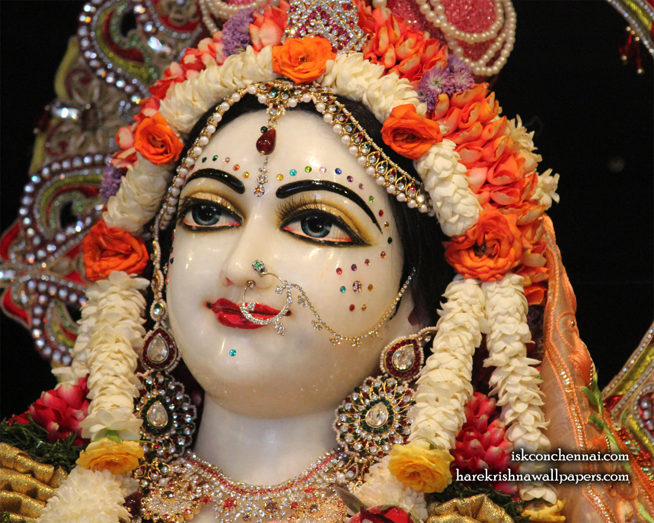 Sri Radha Close up Wallpaper (006) Size 1280x1024 Download