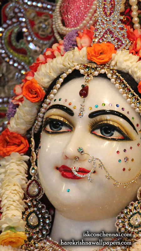 Sri Radha Close up Wallpaper (006) Size 450x800 Download