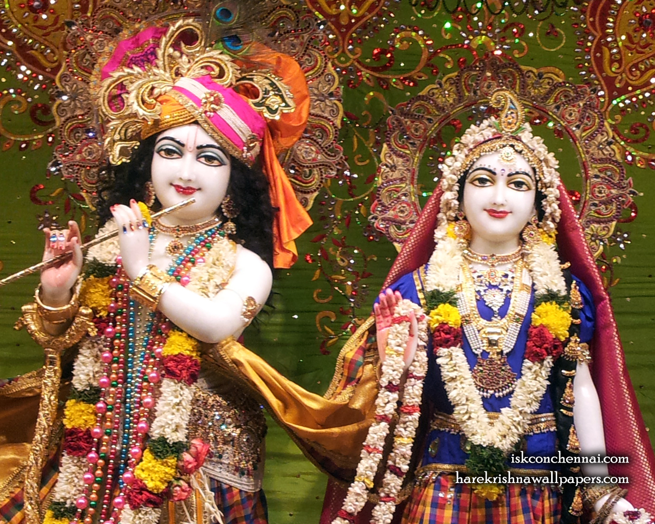 Sri Sri Radha Krishna Close up Wallpaper (006) Size 1280x1024 Download