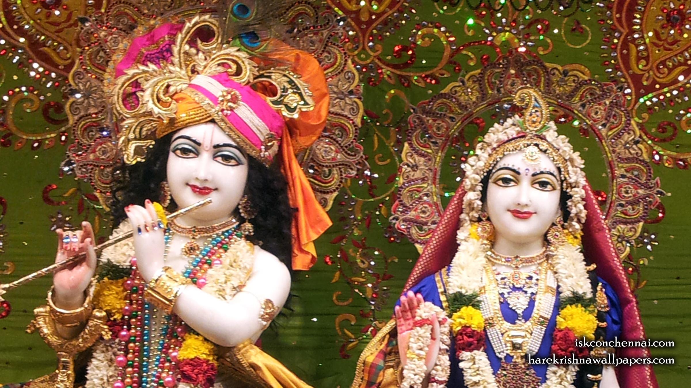 Sri Sri Radha Krishna Close up Wallpaper (006) Size 2400x1350 Download