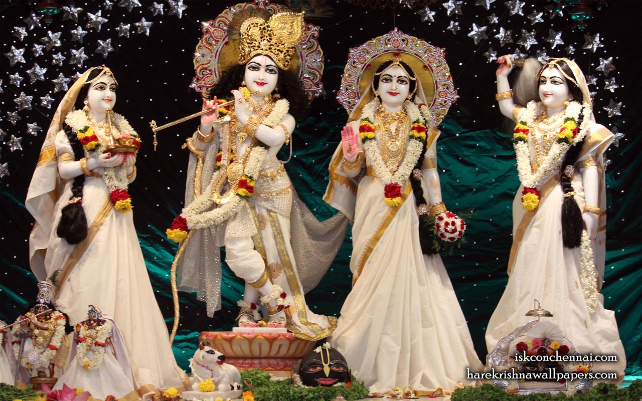 Sri Sri Radha Krishna Lalita Vishakha Wallpaper (006) Size 1280x800 Download
