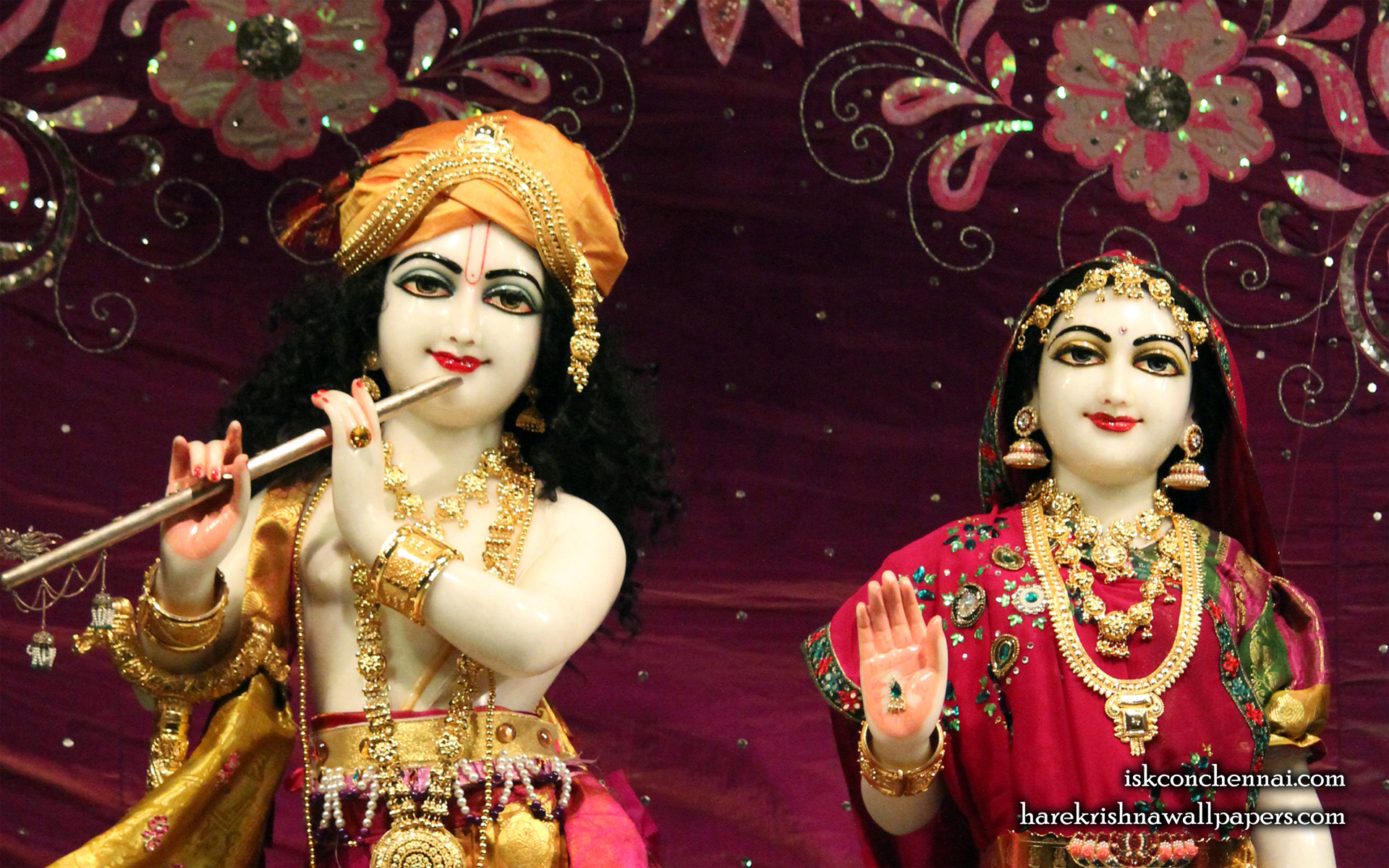 Sri Sri Radha Krishna Close up Wallpaper (007) Size 1920x1200 Download