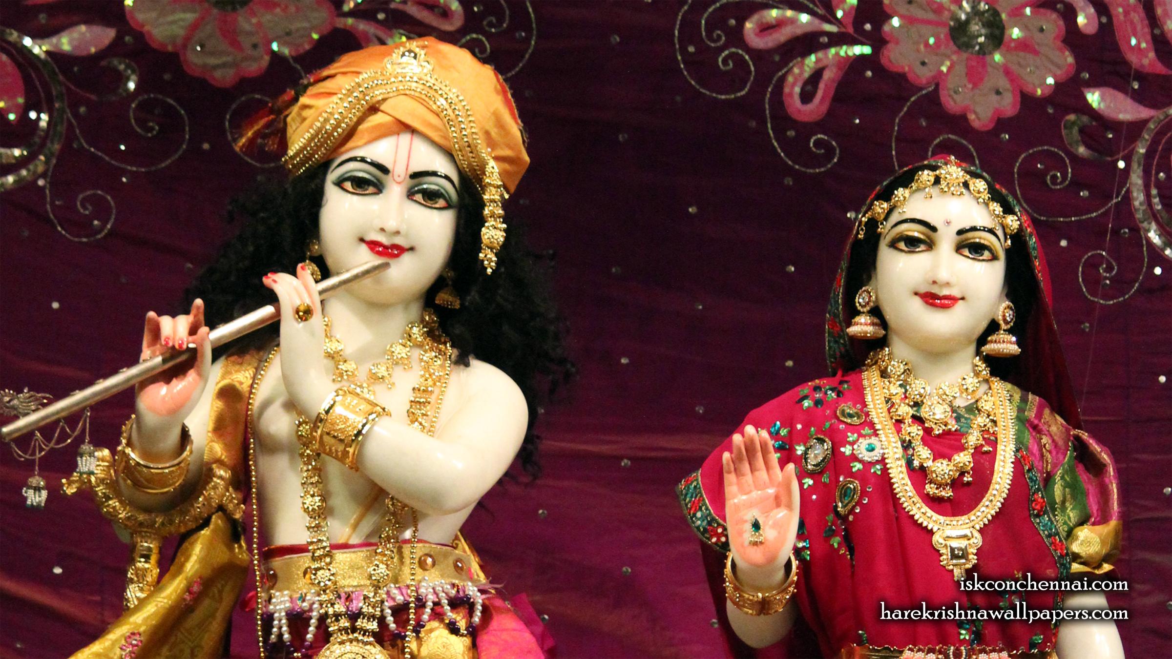 Sri Sri Radha Krishna Close up Wallpaper (007) Size 2400x1350 Download