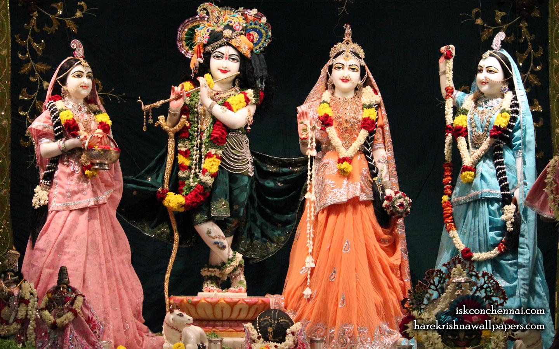 Sri Sri Radha Krishna Lalita Vishakha Wallpaper (007) Size 1440x900 Download