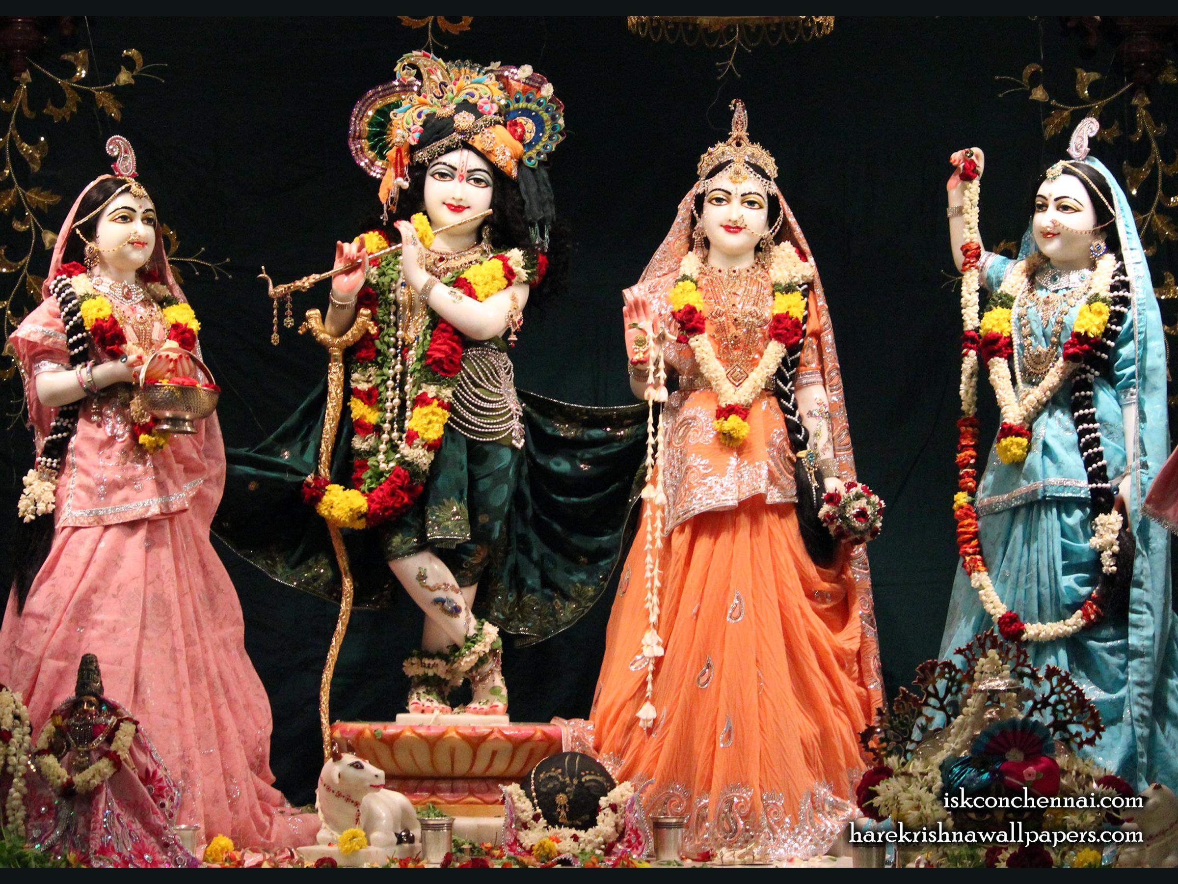 Sri Sri Radha Krishna Lalita Vishakha Wallpaper (007) Size 2400x1800 Download