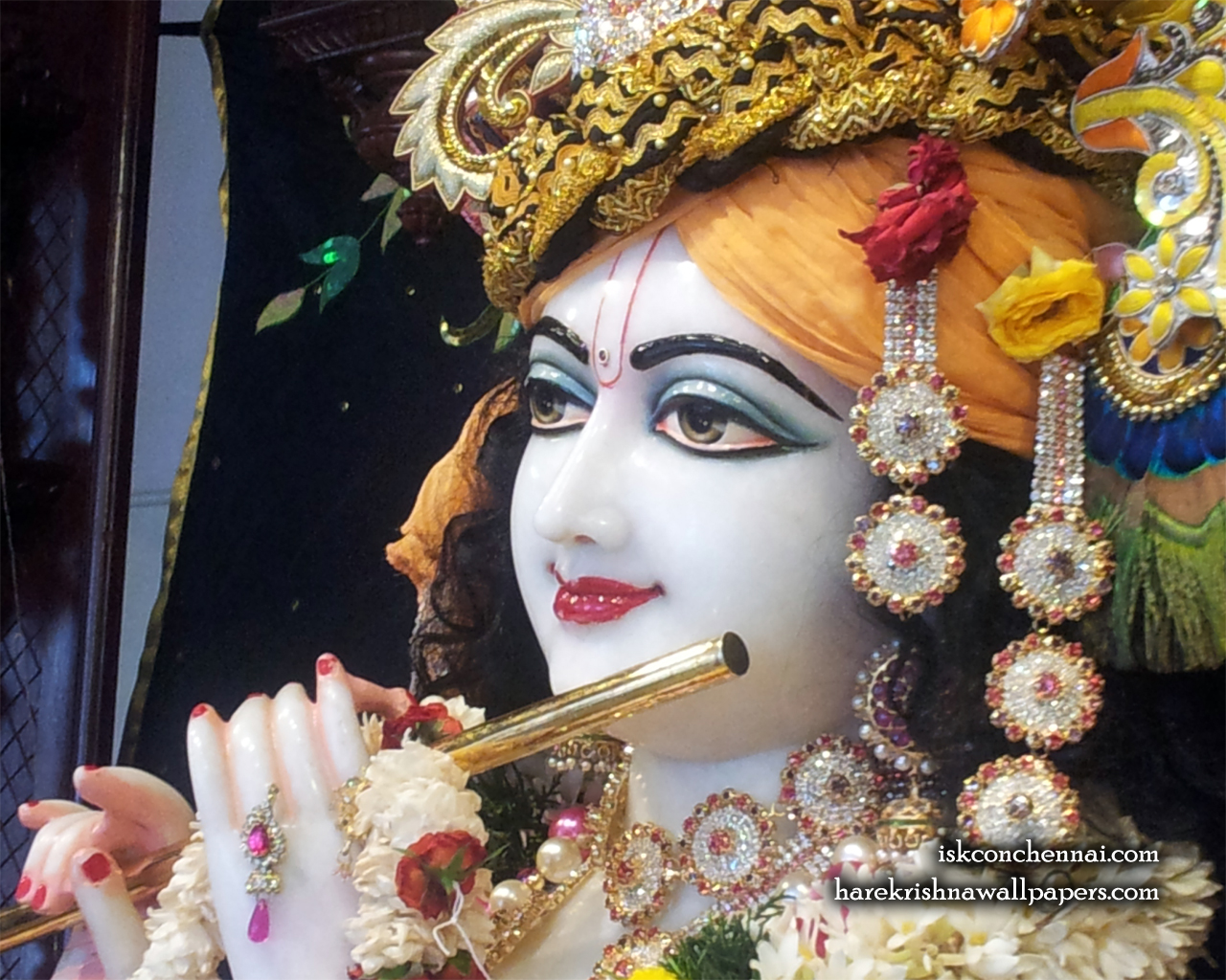 Sri Krishna Close up Wallpaper (008) Size 1280x1024 Download