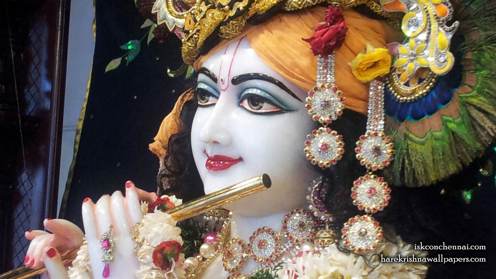 Sri Krishna Close up Wallpaper (008) Size 1600x900 Download