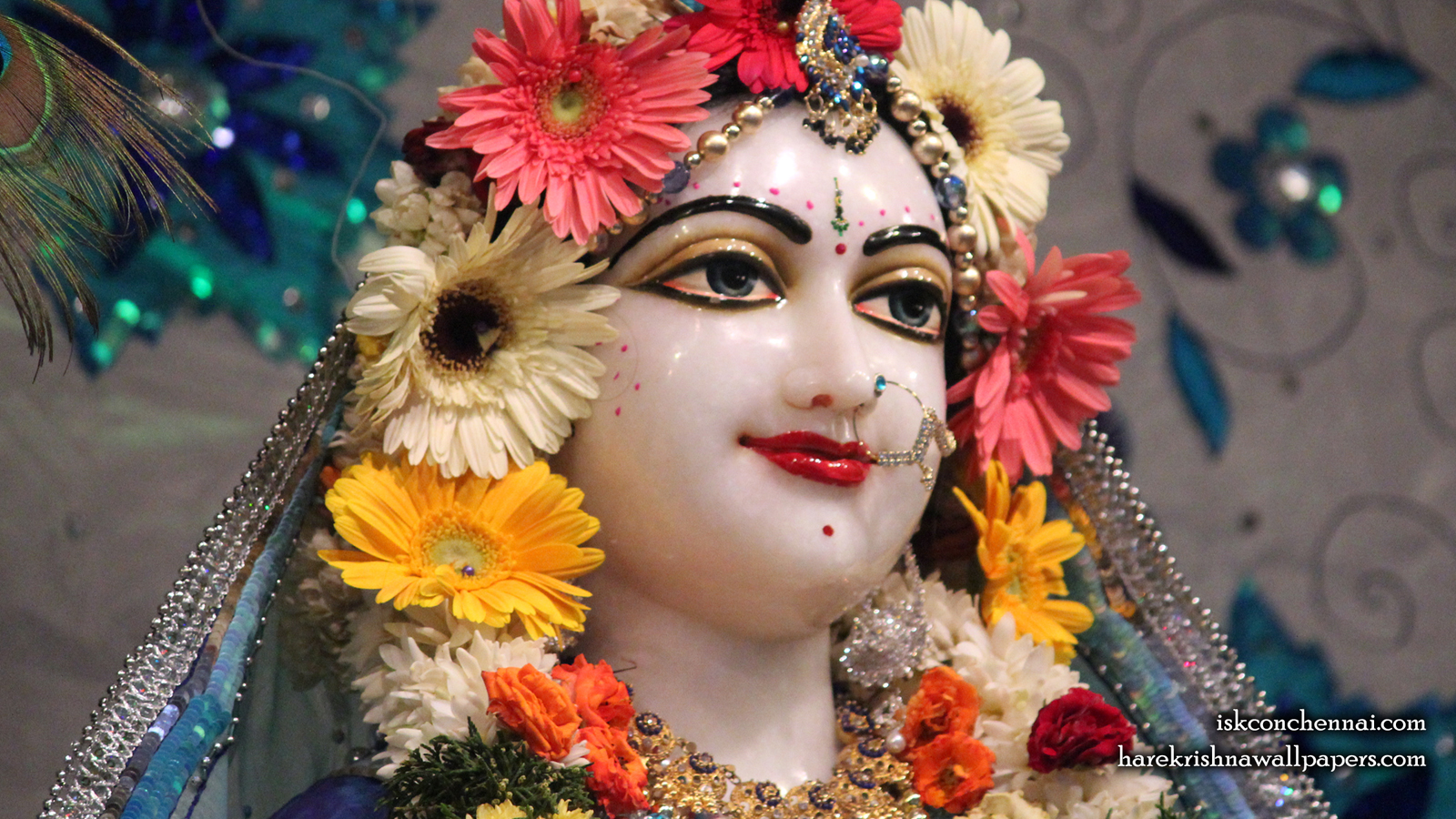 Sri Radha Close up Wallpaper (008) Size 1600x900 Download