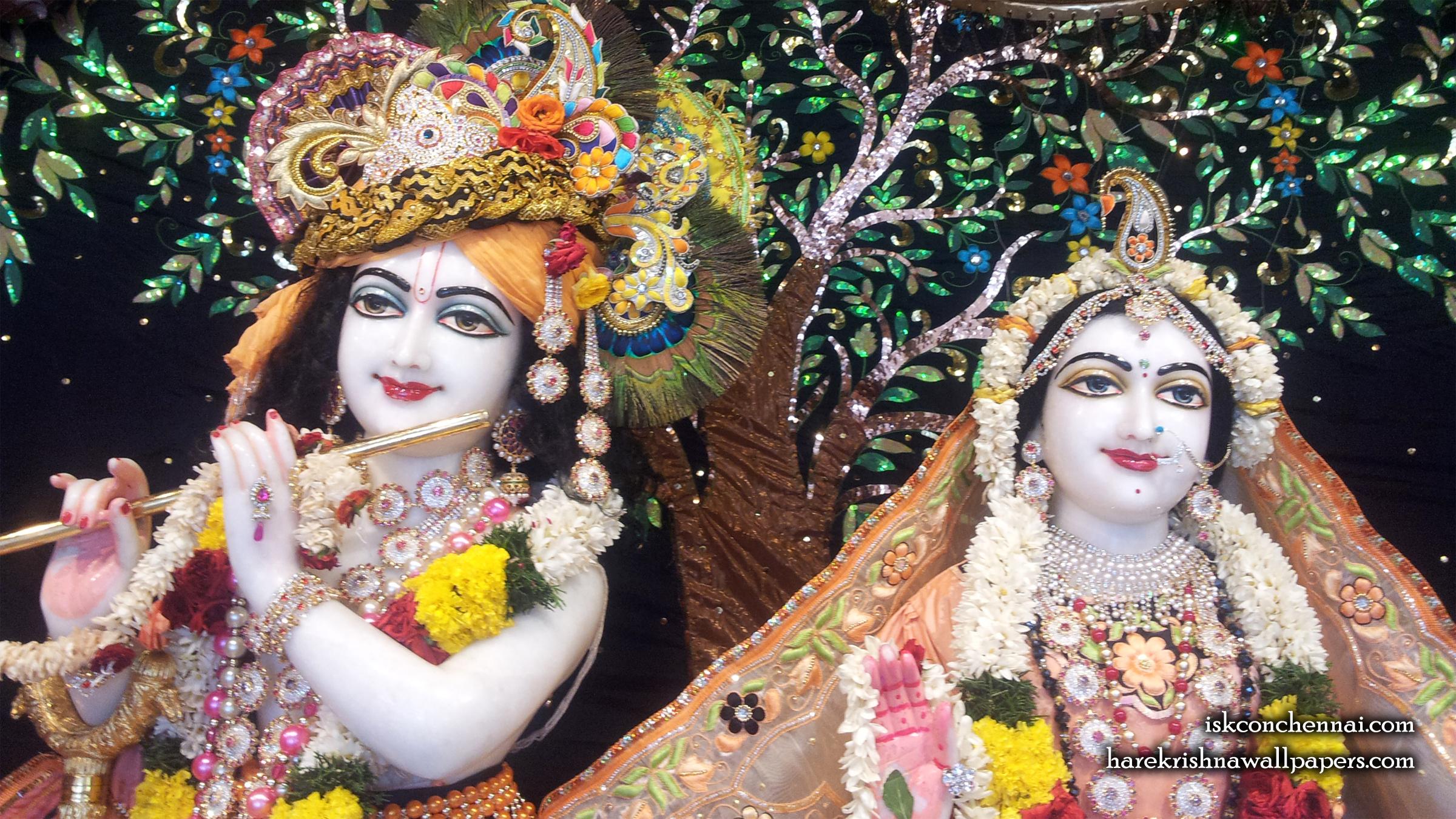 Sri Sri Radha Krishna Close up Wallpaper (008) Size 2400x1350 Download
