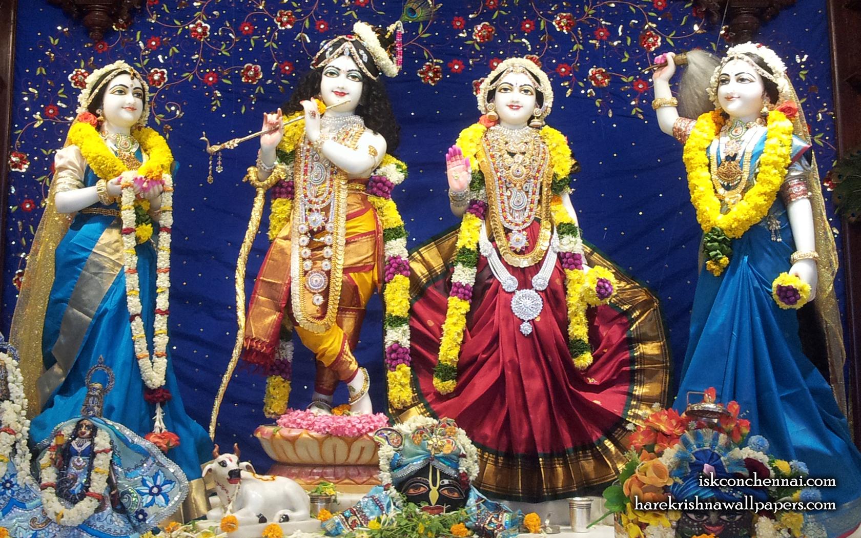Sri Sri Radha Krishna Lalita Vishakha Wallpaper (008) Size 1680x1050 Download
