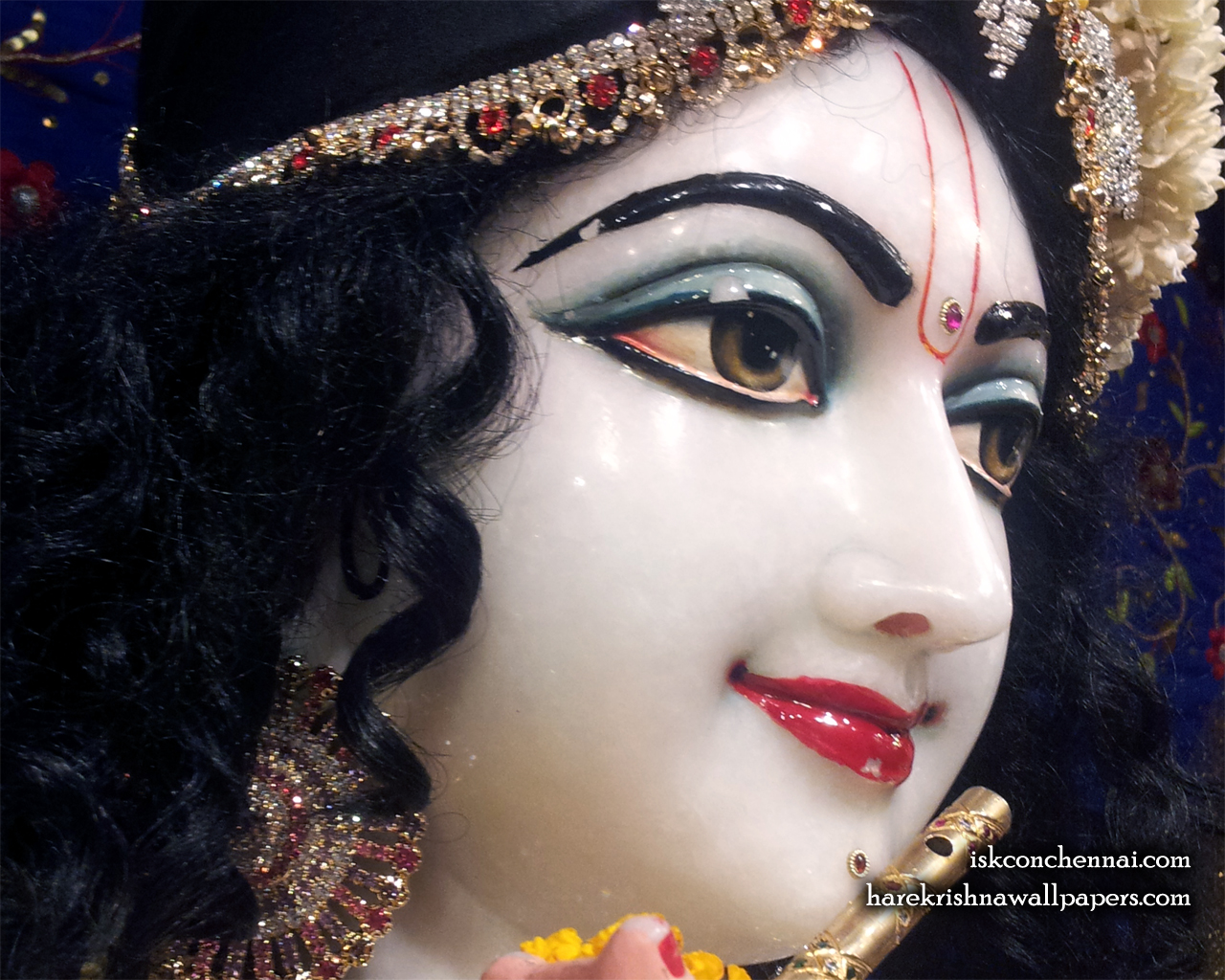Sri Krishna Close up Wallpaper (009) Size 1280x1024 Download