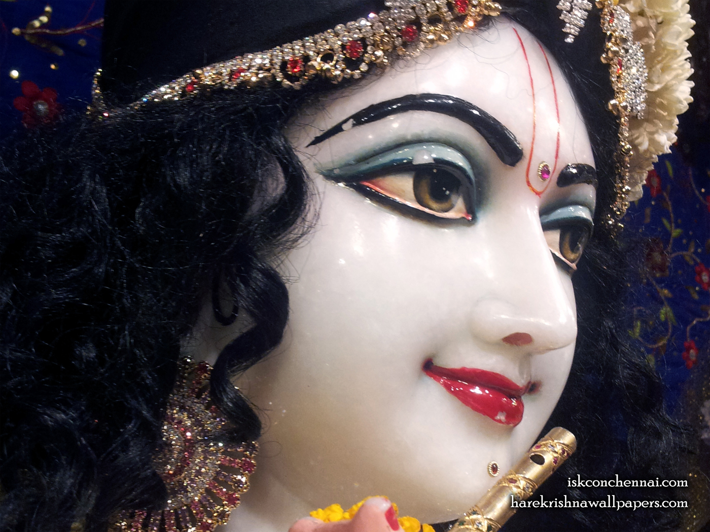 Sri Krishna Close up Wallpaper (009) Size 1400x1050 Download