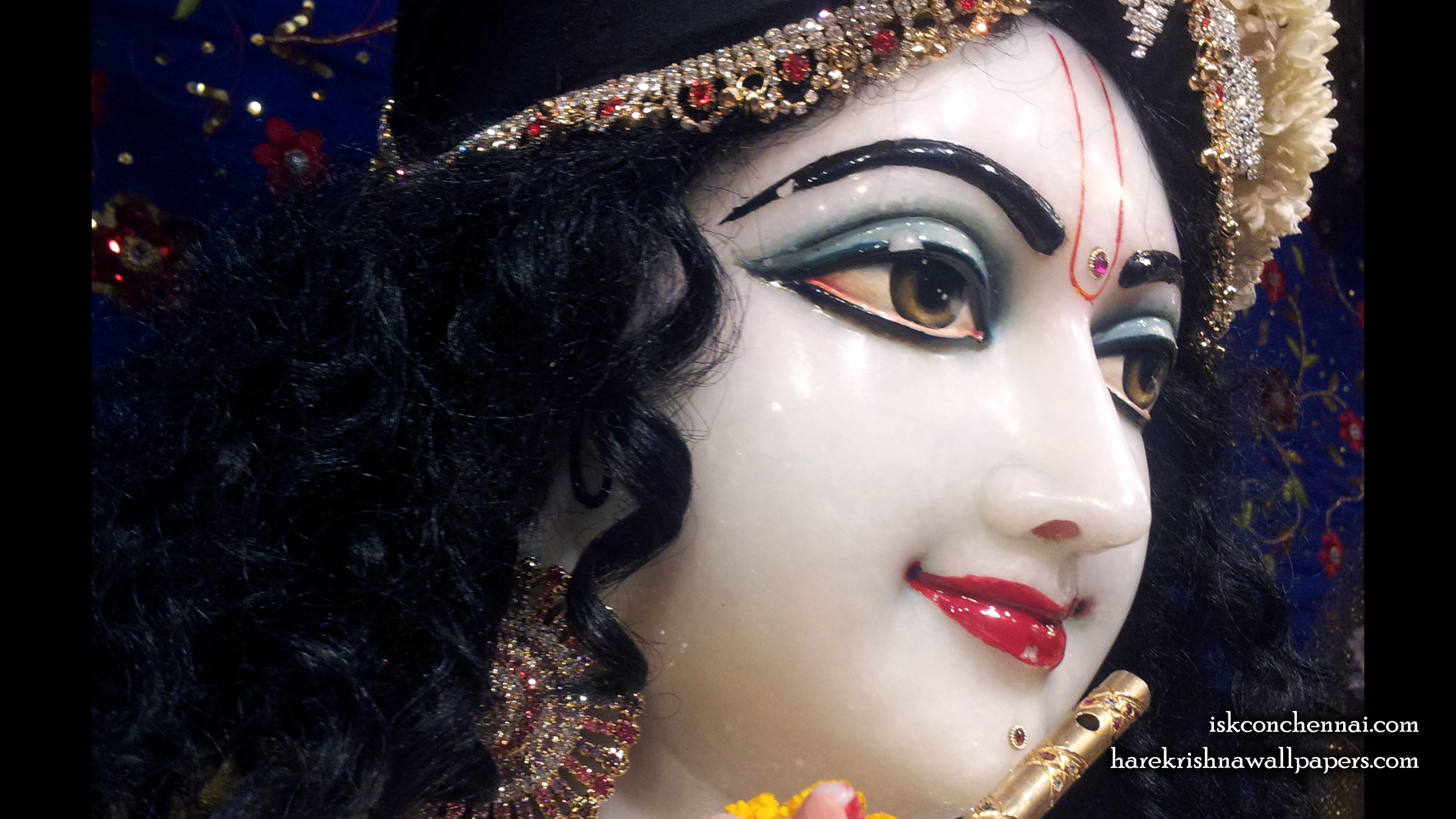 Sri Krishna Close up Wallpaper (009) Size 2400x1350 Download