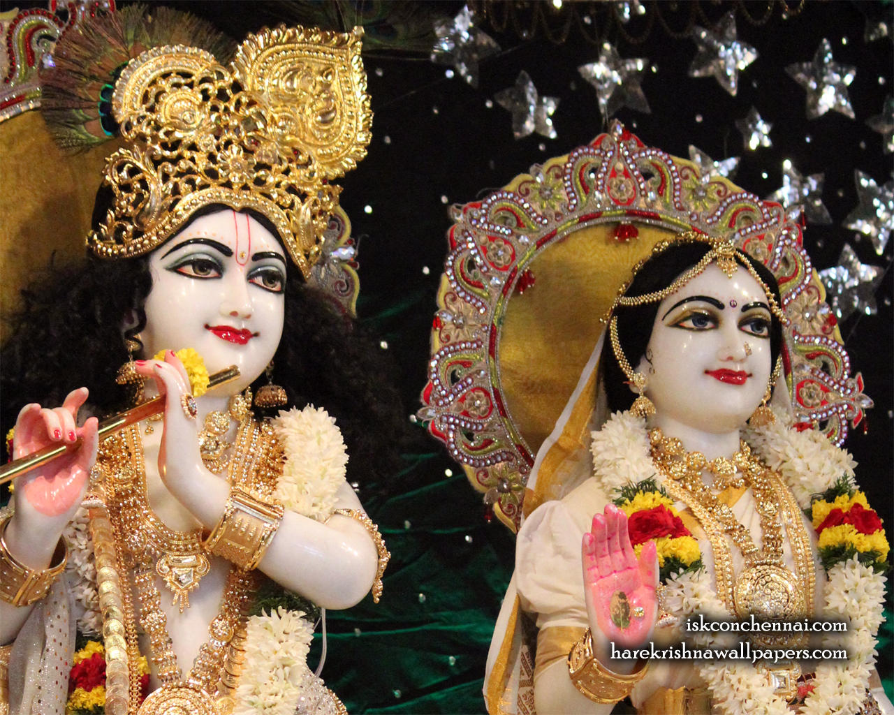 Sri Sri Radha Krishna Close up Wallpaper (009) Size 1280x1024 Download
