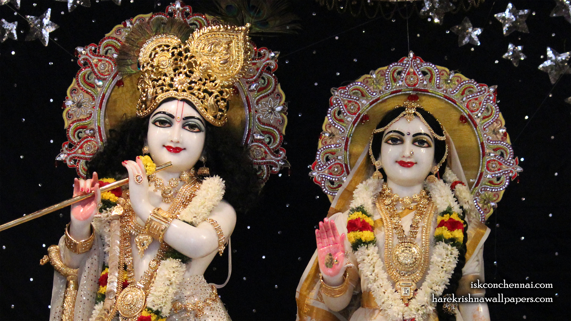 Sri Sri Radha Krishna Close up Wallpaper (010) Size 1920x1080 Download