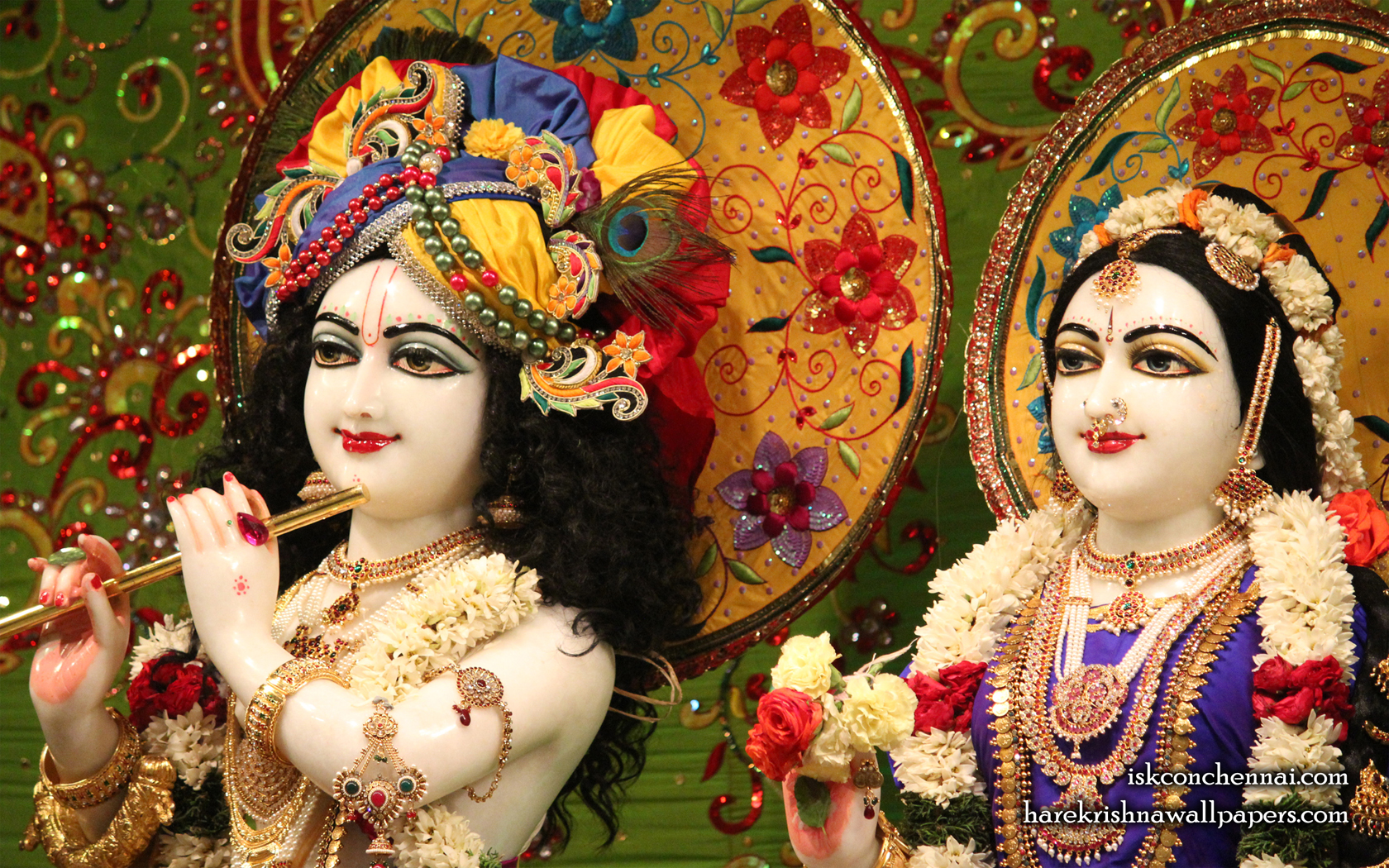 Sri Sri Radha Krishna Close up Wallpaper (011) Size 1680x1050 Download