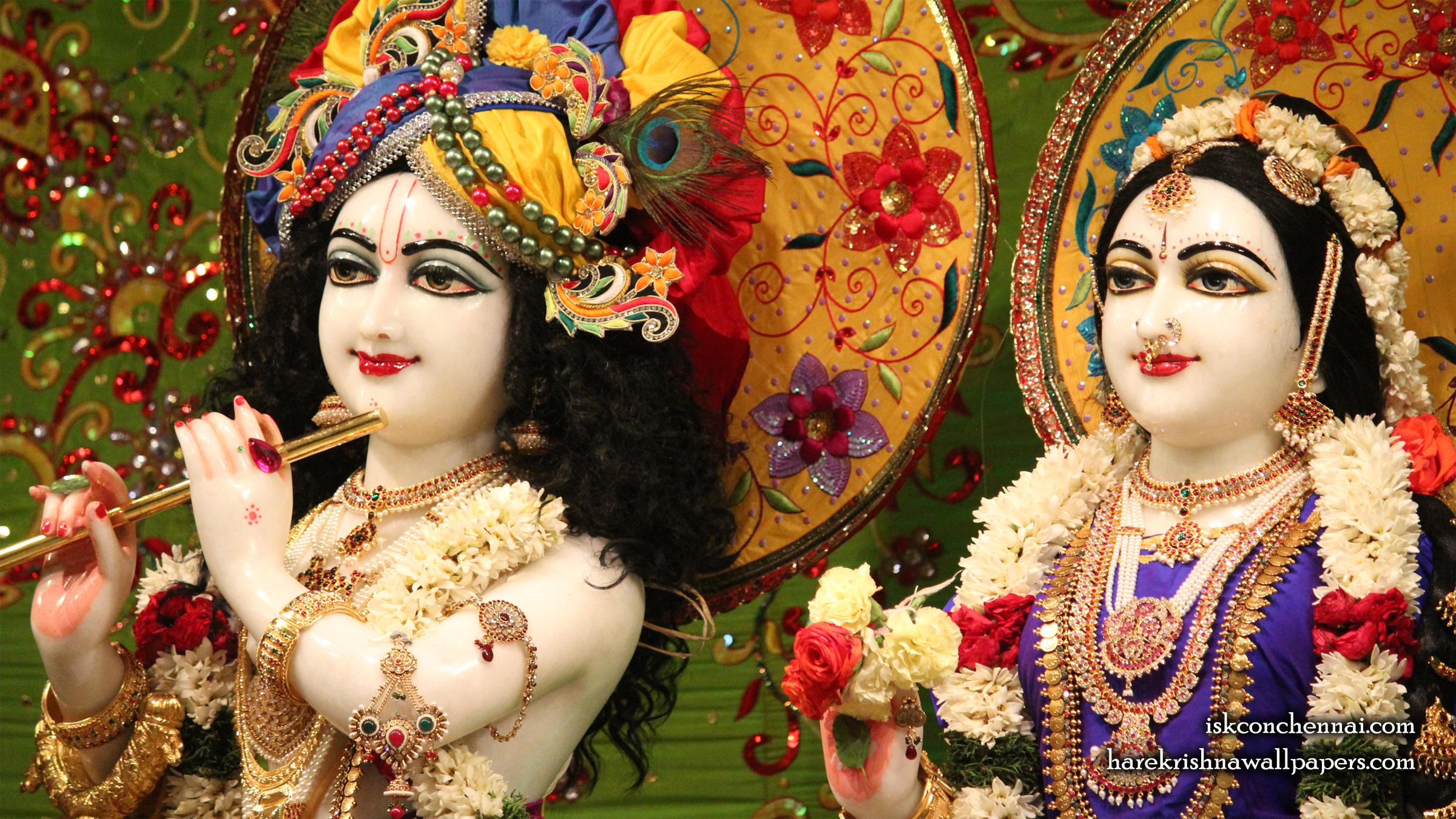 Sri Sri Radha Krishna Close up Wallpaper (011) Size 2400x1350 Download