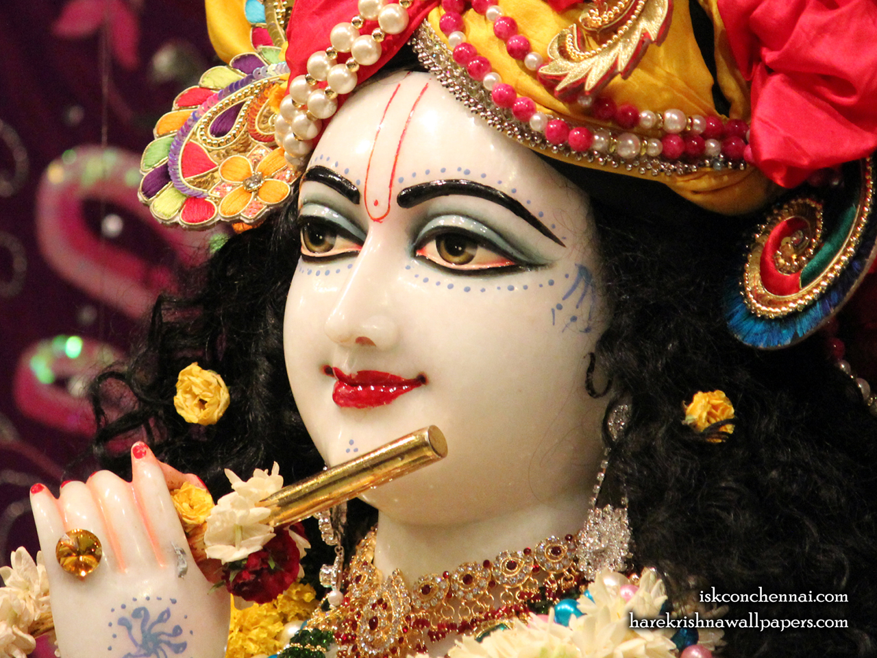 Sri Krishna Close up Wallpaper (012) Size 1280x960 Download