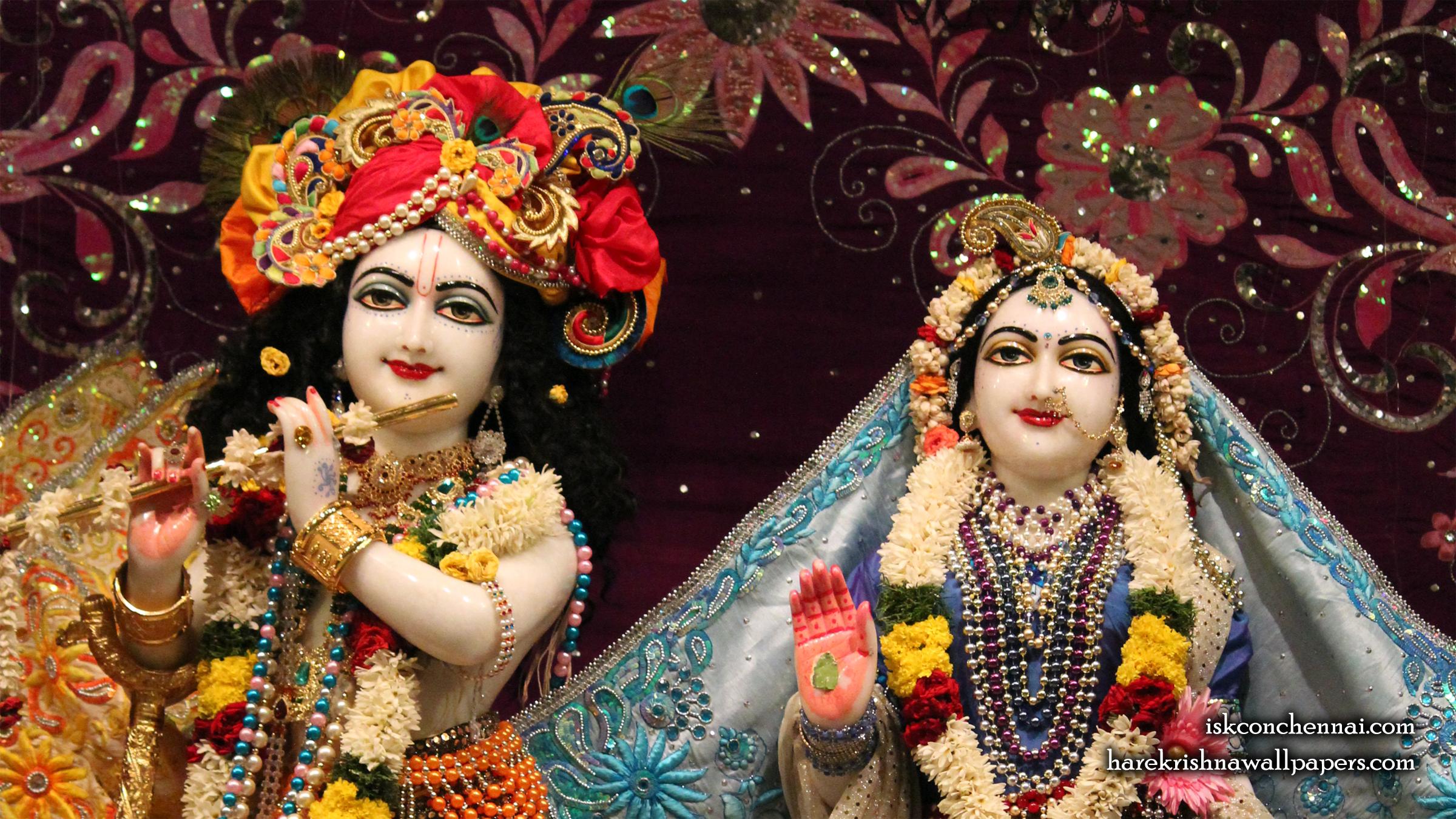 Sri Sri Radha Krishna Close up Wallpaper (012) Size 2400x1350 Download