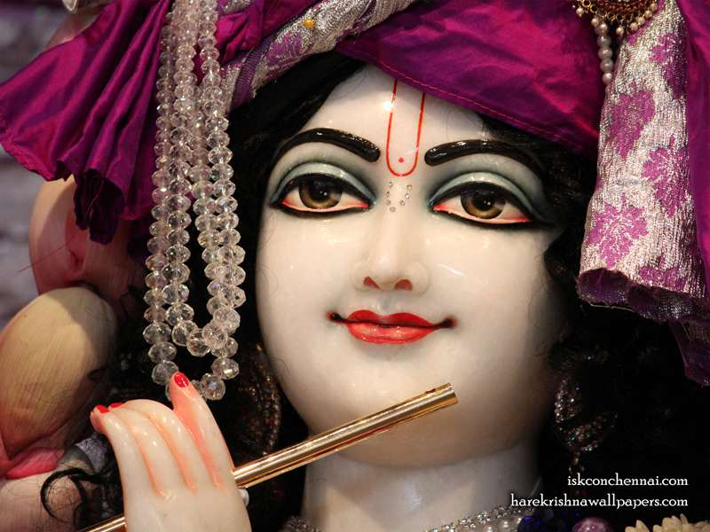 Sri Krishna Close up Wallpaper, Hare Krishna Wallpaper