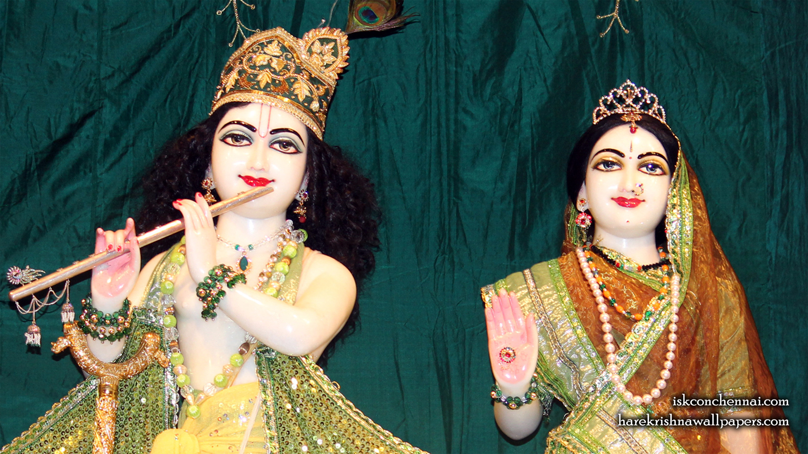Sri Sri Radha Krishna Close up Wallpaper (013) Size 1600x900 Download