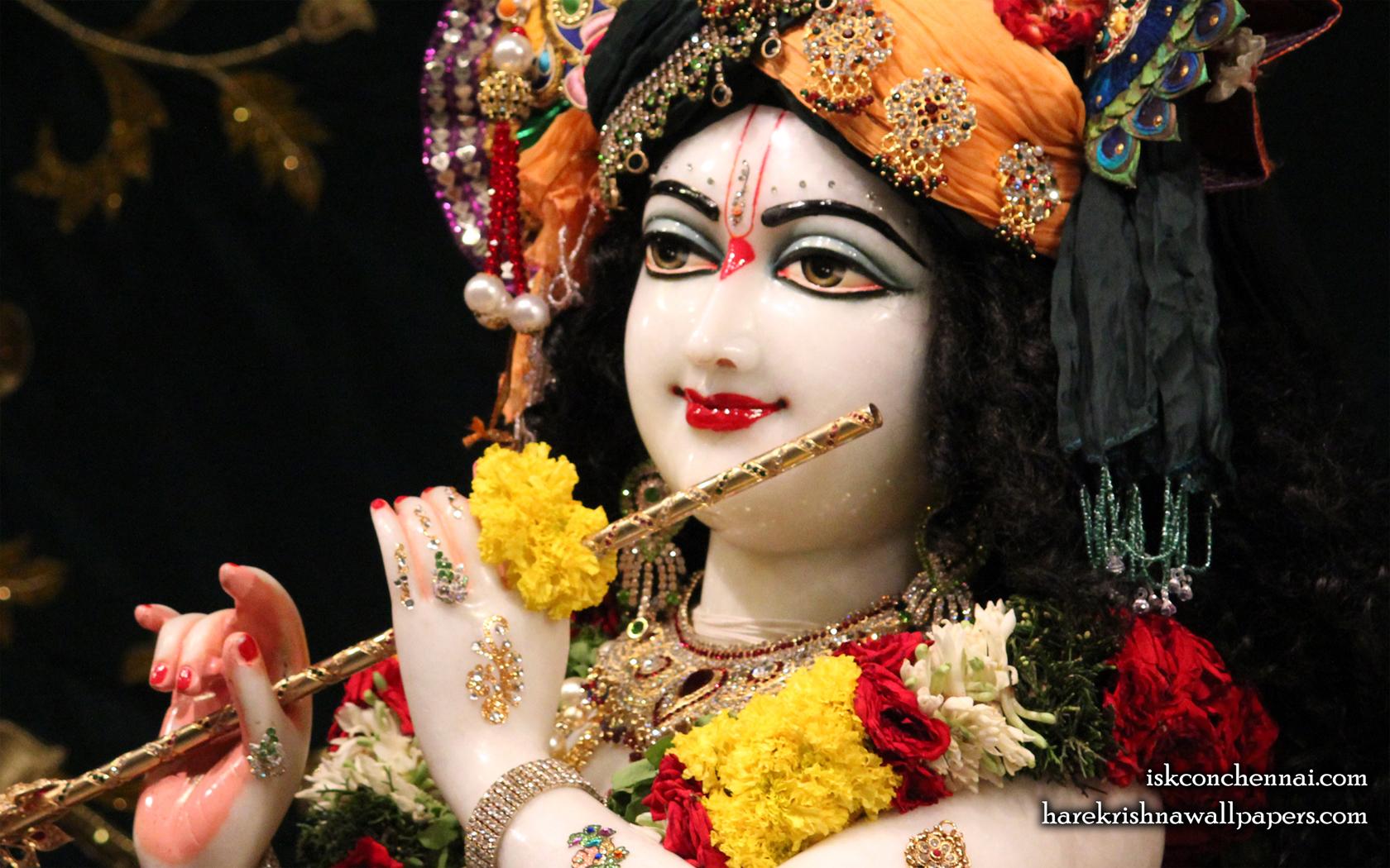 Sri Krishna Close up Wallpaper (014) Size 1680x1050 Download
