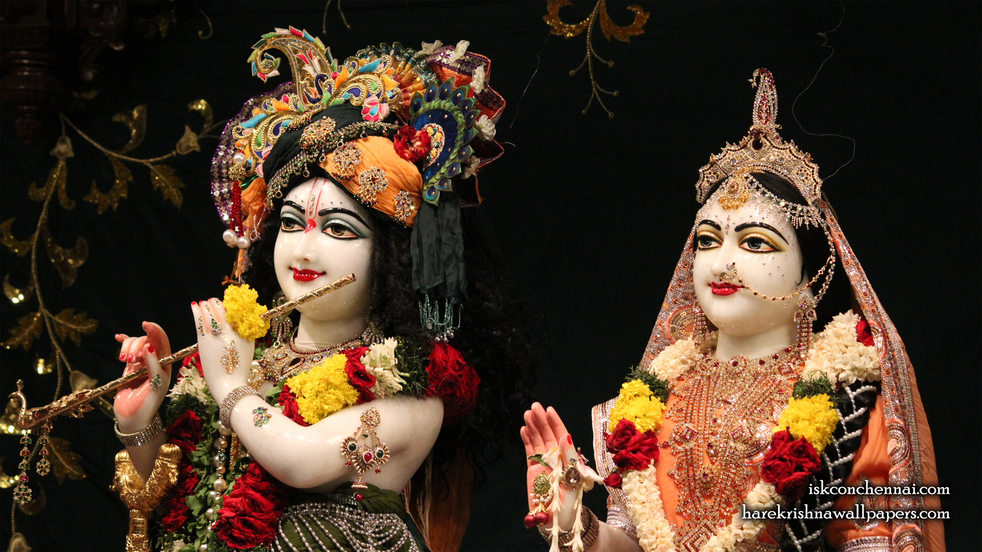 Sri Sri Radha Krishna Close up Wallpaper (014) Size 1920x1080 Download