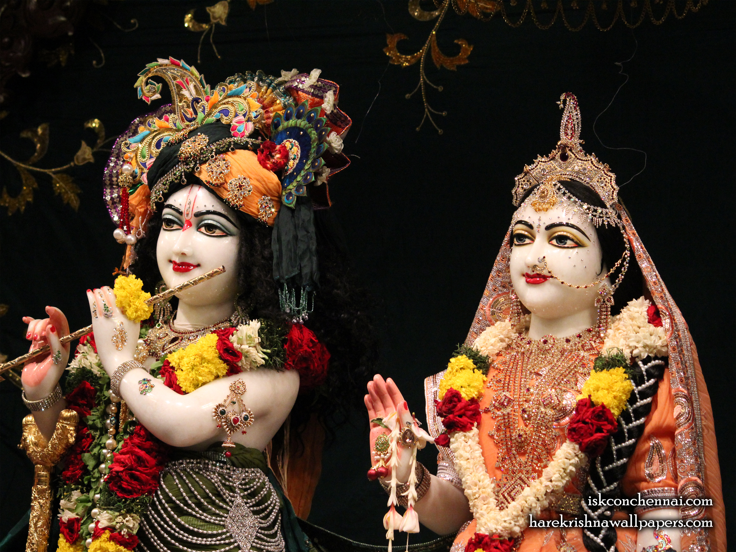 Sri Sri Radha Krishna Close up Wallpaper (014) Size 2400x1800 Download