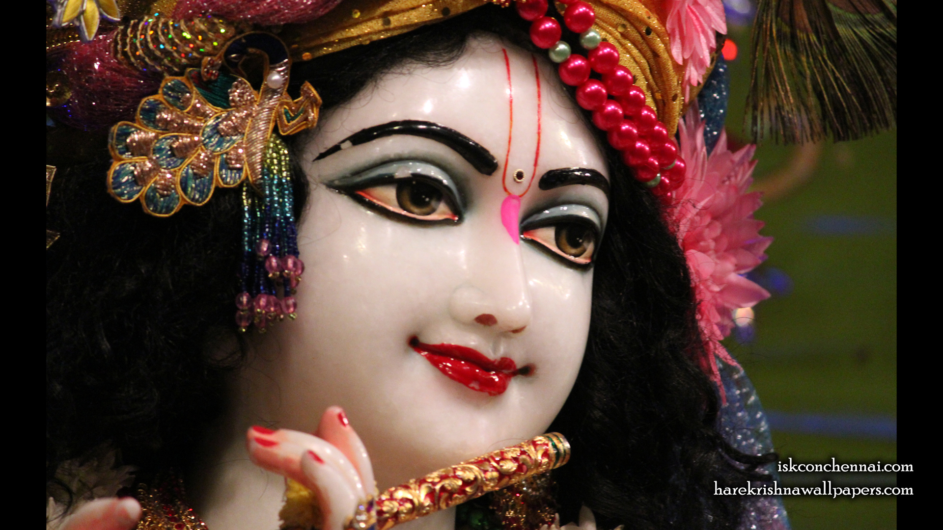 Sri Krishna Close up Wallpaper (015) Size 1920x1080 Download