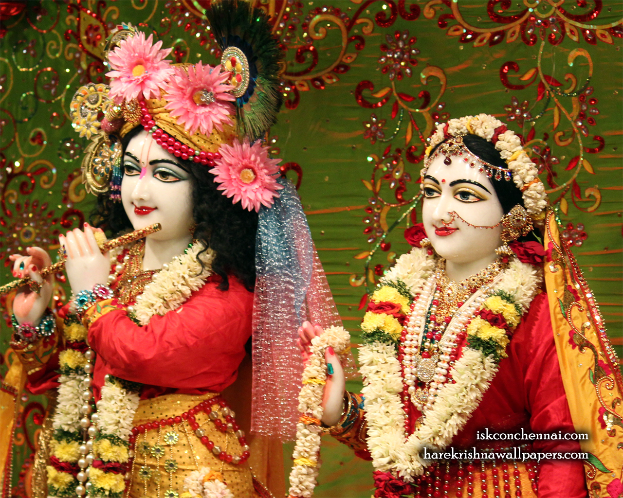 Sri Sri Radha Krishna Close up Wallpaper (015) Size 1280x1024 Download