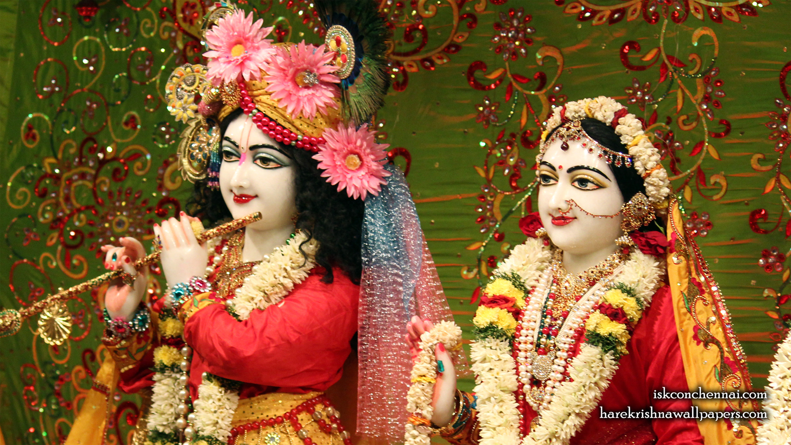 Sri Sri Radha Krishna Close up Wallpaper (015) Size 1600x900 Download