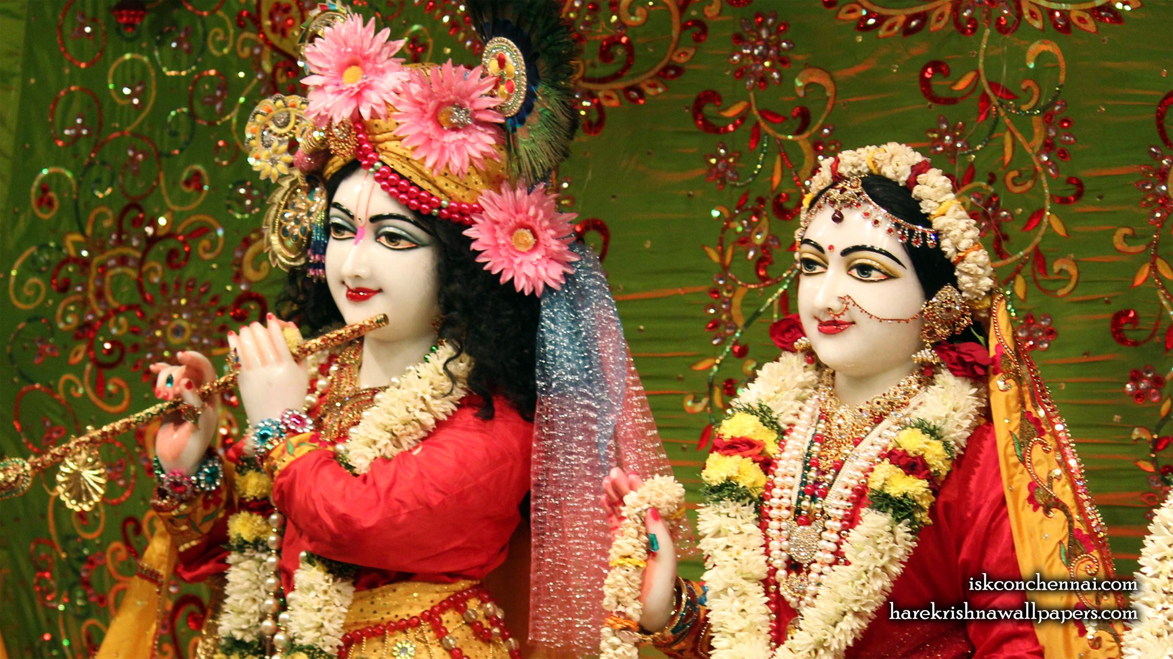 Sri Sri Radha Krishna Close up Wallpaper (015) Size 2400x1350 Download