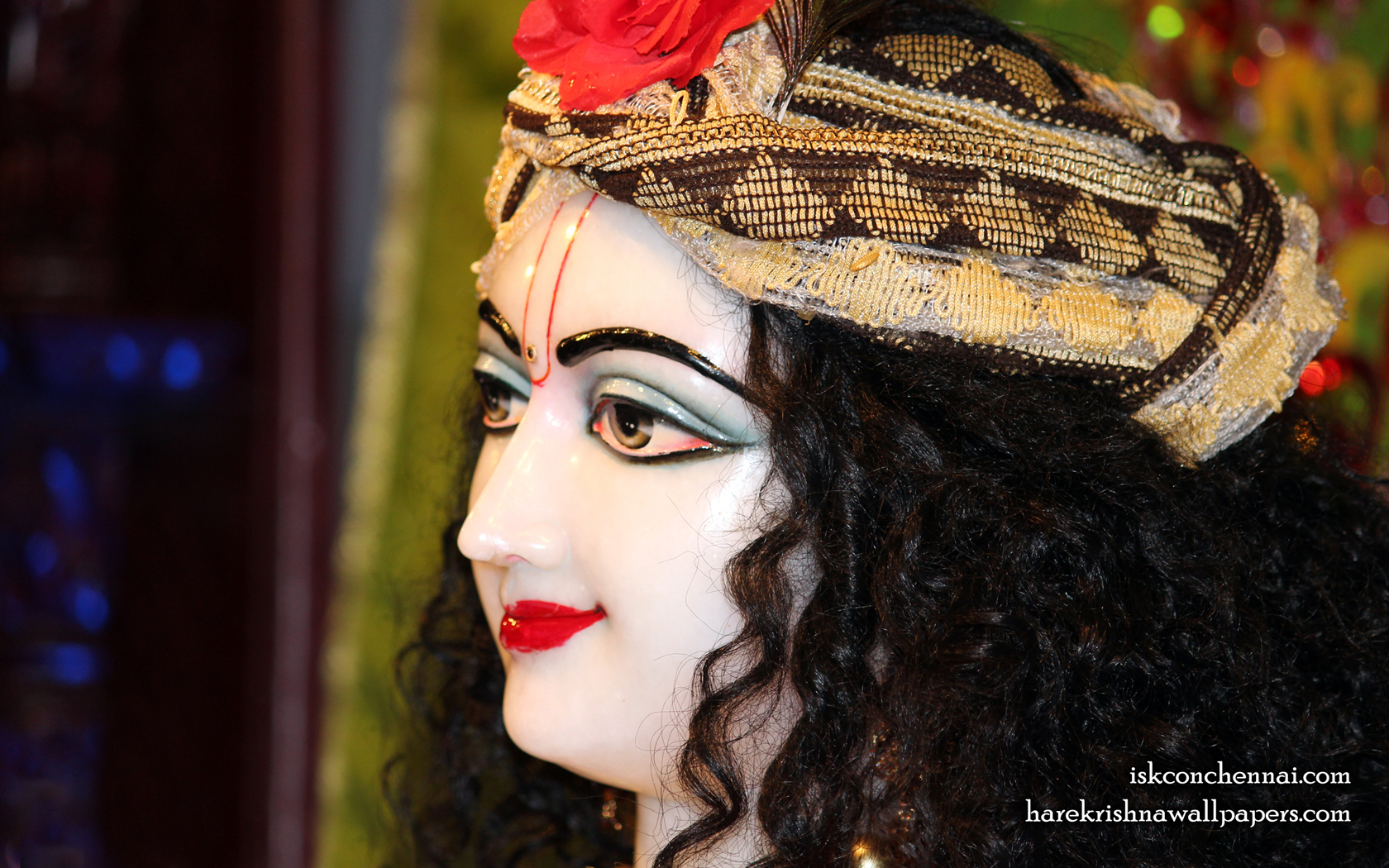 Sri Krishna Close up Wallpaper (016) Size 1680x1050 Download