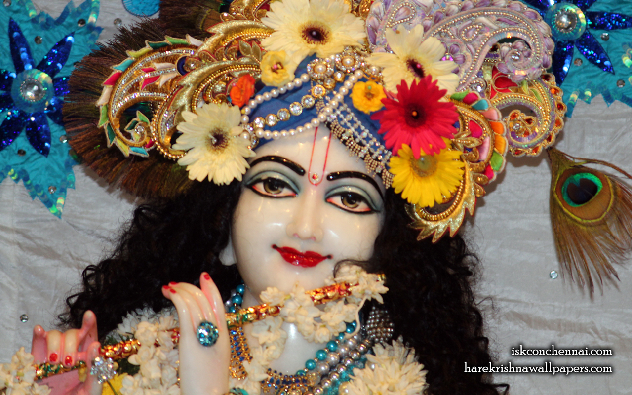 Sri Krishna Close up Wallpaper (017) Size 1280x800 Download