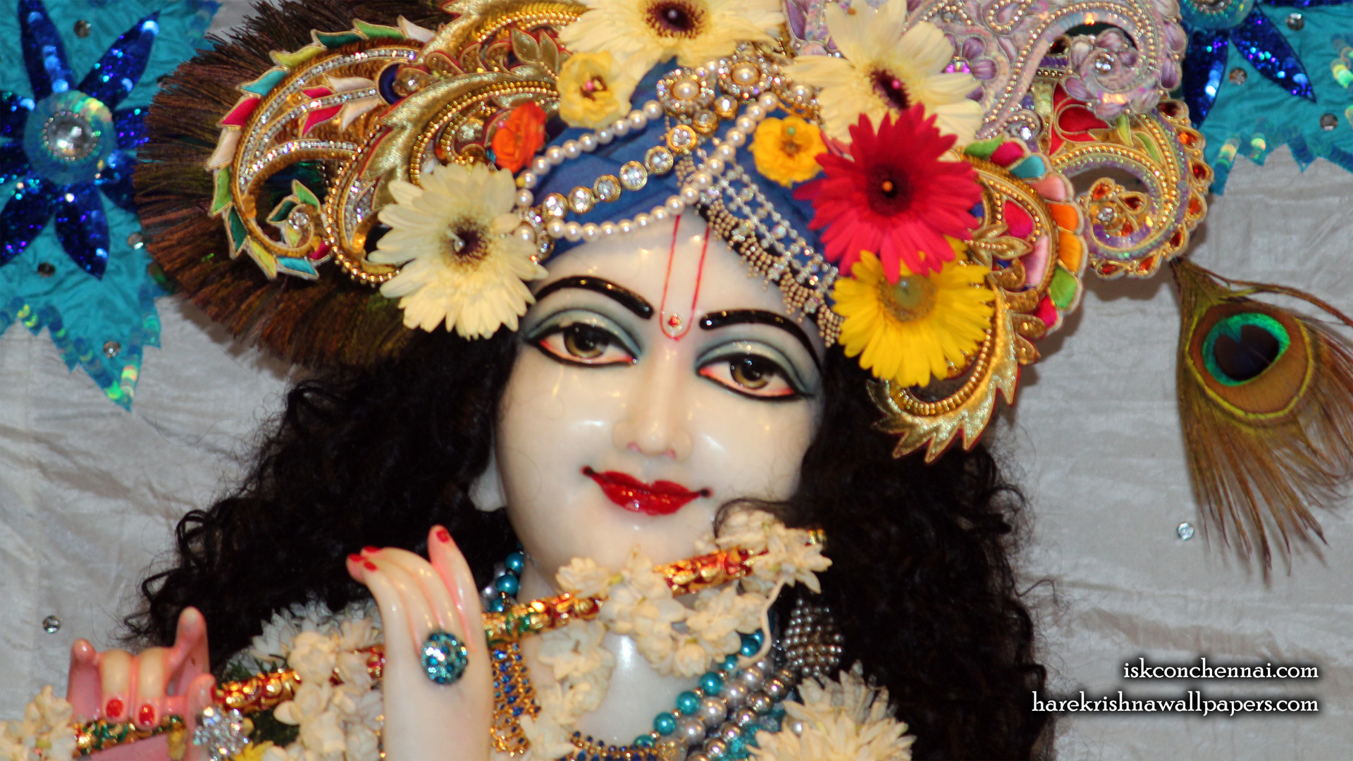 Sri Krishna Close up Wallpaper (017) Size 1920x1080 Download