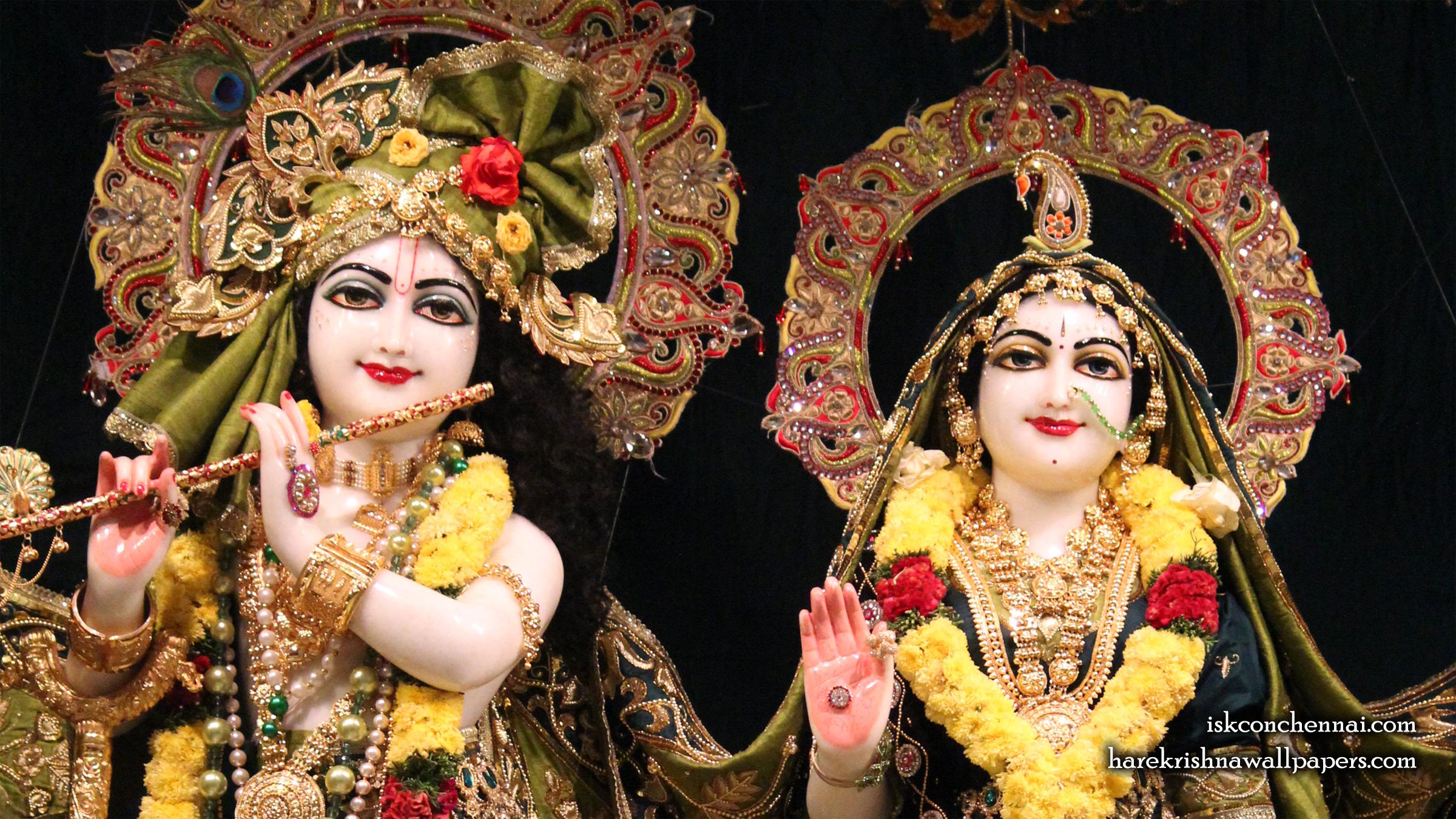 Sri Sri Radha Krishna Close up Wallpaper (017) Size 2400x1350 Download