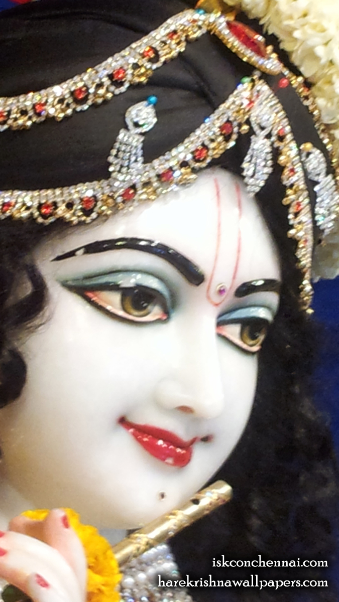 Sri Krishna Close up Wallpaper (018) Size 675x1200 Download
