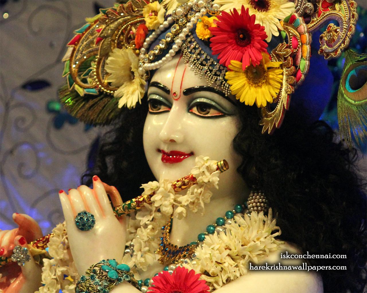 Sri Krishna Close up Wallpaper (019) Size 1280x1024 Download