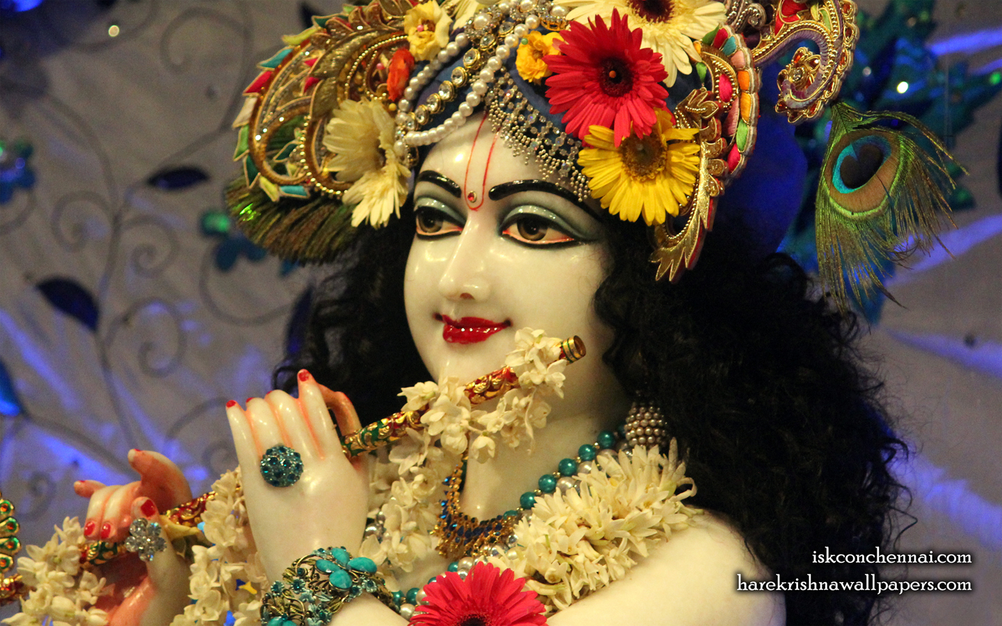 Sri Krishna Close up Wallpaper (019) Size 1440x900 Download